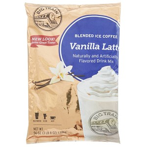 BIG TRAIN VANILLA LATTE BLENDED ICE COFFEE 3.5 LB