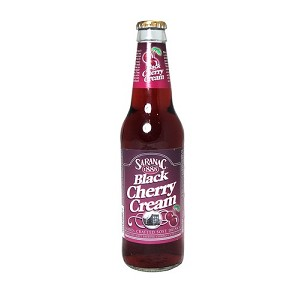 SARANAC BLACK CHERRY CREAM SODA